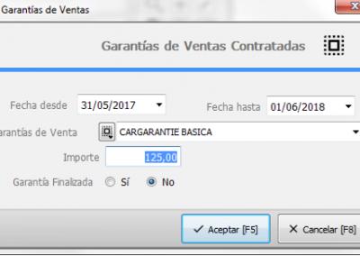 Control de las garantías ofrecidas por el concesionario