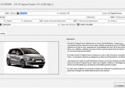 Más de 5000 vehículos disponibles para insertar en los expedientes VO